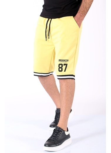 Madmext     Erkek Regular Fit Şort 5405 Sarı